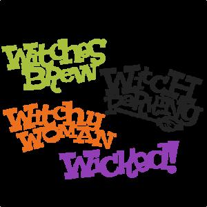 Halloween Witch Titles Set SVG scrapbook title SVG cutting files crow svg cut file halloween cute files for cricut cute cut files free svgs