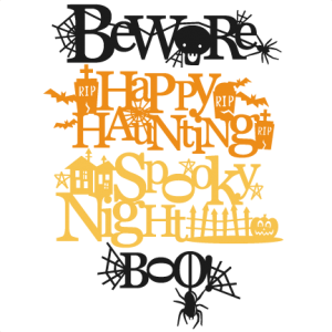Halloween Titles SVG scrapbook title SVG cutting files crow svg cut file halloween cute files for cricut cute cut files free svgs