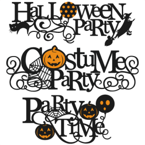 Halloween Party Titles SVG scrapbook title SVG cutting files crow svg cut file halloween cute files for cricut cute cut files free svgs