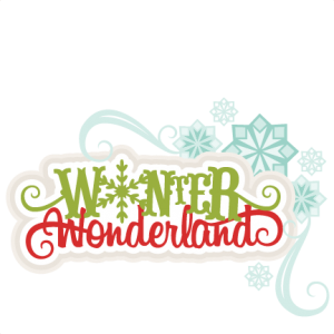 Winter Wonderland SVG scrapbook title winter svg cut file snowflake svg cut files for cricut cute svgs free