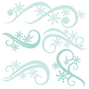 Winter Flourishes SVG scrapbook title winter svg cut file snowflake svg cut files for cricut cute svgs free