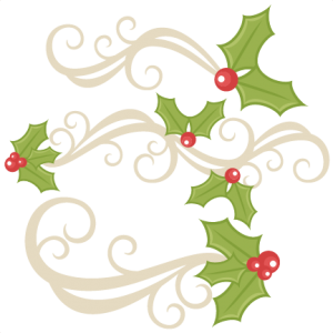 Holly Flourishes SVG scrapbook title christmas svg cut file christmas svg cut files for cricut cute svgs free