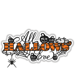 All Hallows' Eve  Title SVG scrapbook title SVG cutting files crow svg cut file halloween cute files for cricut cute cut files free svgs