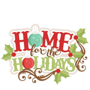 Home For The Holidays  SVG scrapbook title christmas svg cut file christmas svg cut files for cricut cute svgs free