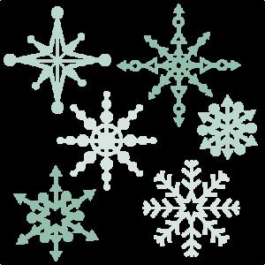 Snowflake Set SVG scrapbook title winter svg cut file winter cut file for scrapbooking cute cricut cut files