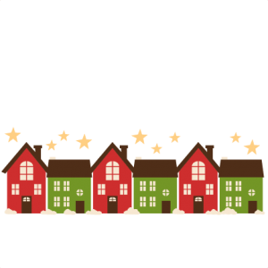 Christmas Houses SVG scrapbook title christmas cut outs for cricut cute svg cut files free svgs cute svg cuts