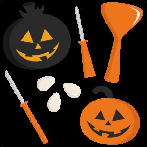 Pumpkin Carving Set SVG cutting files cute cut files for cricut free svgs free svg cuts cute svg files