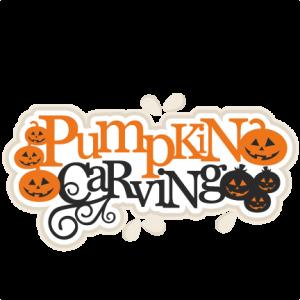 Pumpkin Carving Title scrapbook title SVG cutting files cute cut files for cricut free svgs free svg cuts cute svg files