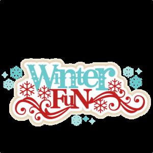 Winter Fun SVG scrapbook title winter svg cut file snowflake svg cut files for cricut cute svgs free