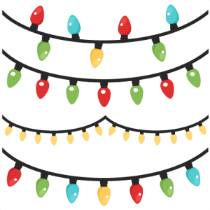 Christmas Lights scrapbook clip art christmas cut outs for cricut cute svg cut files free svgs cute svg cuts