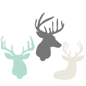 Deer Head Set SVG cutting files for scrapbooking cute cut files christmas svg cut files free svgs