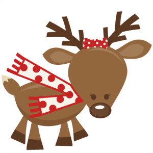 Cute Girl Reindeer SVG cutting files for scrapbooking cute cut files christmas svg cut files free svgs