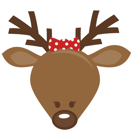 Cute reindeer head clipart - photo#9