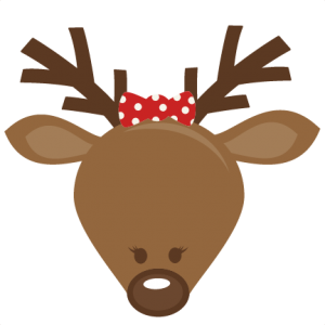 Cute Girl Reindeer Head SVG cutting files for scrapbooking cute cut files christmas svg cut files free svgs
