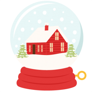 Winter House Snow Globe SVG scrapbook title winter svg cut file snowflake svg cut files for cricut cute svgs free