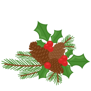 Pinecones & Holly Berries scrapbook clip art christmas cut outs for cricut cute svg cut files free svgs cute svg cuts
