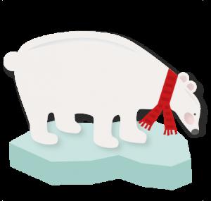 Polar Bear SVG scrapbook title winter svg cut file snowflake svg cut files for cricut cute svgs free