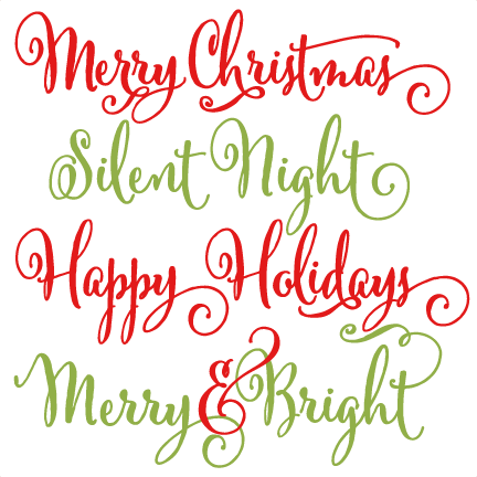 Christmas Phrases Scrapbook Clip Art Christmas Cut Outs