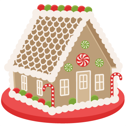 Gingerbread House scrapbook clip art christmas cut outs ...