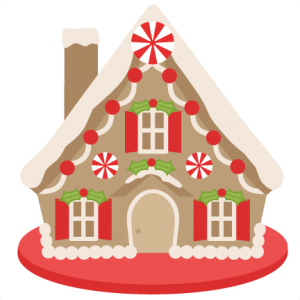 Gingerbread House scrapbook clip art christmas cut outs for cricut cute svg cut files free svgs cute svg cuts