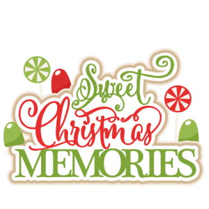 Sweet Christmas Memories title scrapbook clip art christmas cut outs for cricut cute svg cut files free svgs cute svg cuts