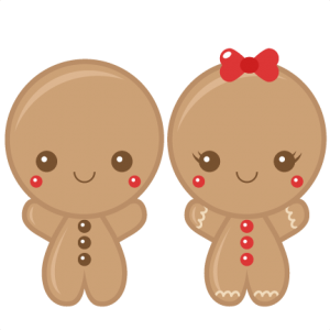 Gingerbread Boy & Girl scrapbook clip art christmas cut outs for cricut cute svg cut files free svgs cute svg cuts
