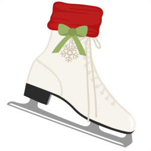 Ice Skate SVG scrapbook shape winter svg cut file snowflake svg cut files for cricut cute svgs free