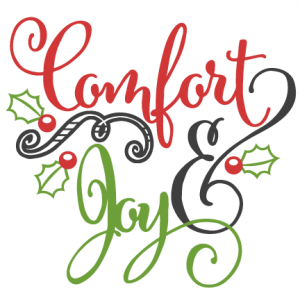 Comfort & Joy scrapbook clip art christmas cut outs for cricut cute svg cut files free svgs cute svg cuts