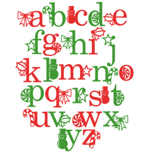 Holiday Alphabet svg scrapbook clip art christmas cut outs for cricut cute svg cut files free svgs cute svg cuts