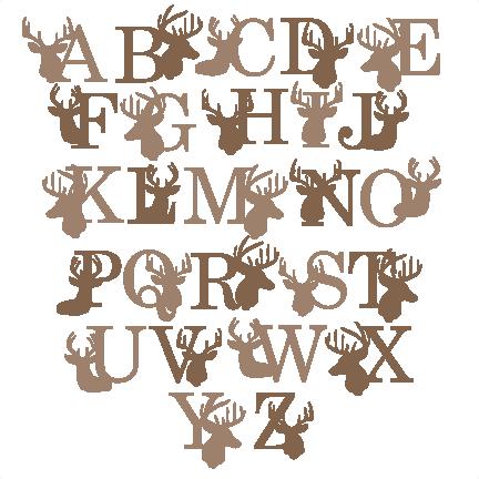 Deer Alphabet SVG Scrapbook Title Winter Svg Cut File Snowflake Files For Cricut Cute