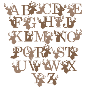 Deer Alphabet SVG scrapbook title winter svg cut file snowflake svg cut files for cricut cute svgs free