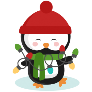 Penguin With Christmas Lights SVG cutting files for scrapbooking winter cut files for cricut cute svg cuts free svg cuts free svgs