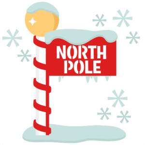 North Pole Sign scrapbook title winter svg cut file snowflake svg cut files for cricut cute svgs free christmas