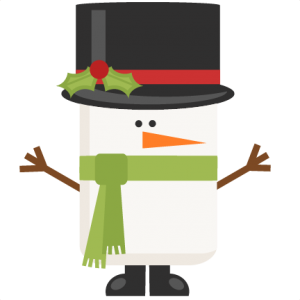 Funky Snowman title scrapbook clip art christmas cut outs for cricut cute svg cut files free svgs cute svg cuts