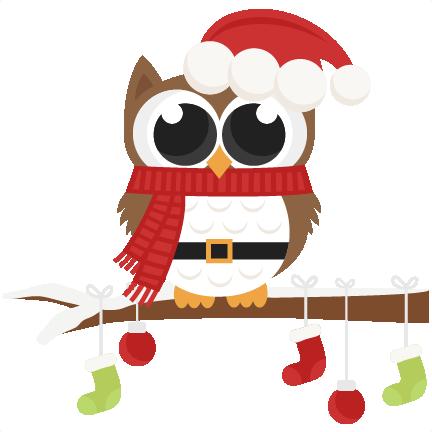 santa owl scrapbook clip art christmas cut outs for cricut Christmas Owl Clip Art Black and White christmas owl clip art black and white