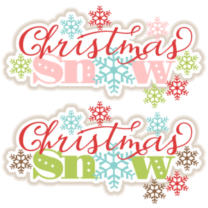 Christmas Snow SVG scrapbook title  clip art christmas cut outs for cricut cute svg cut files free svgs cute svg cuts