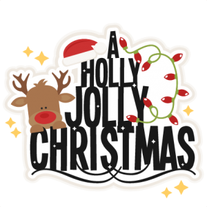A Holly Jolly Christmas title svg scrapbook clip art christmas cut outs for cricut cute svg cut files free svgs cute svg cuts