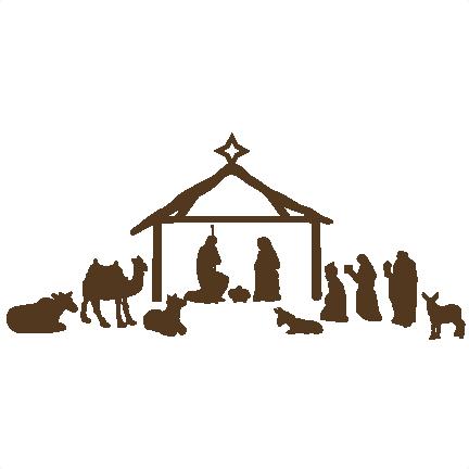 Nativity Scene scrapbook clip art christmas cut outs for ...