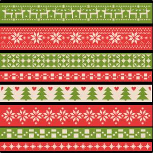 Christmas Fair Isle Borders scrapbook clip art christmas cut outs for cricut cute svg cut files free svgs cute svg cuts
