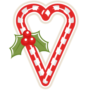 Candy Cane Heart scrapbook clip art christmas cut outs for cricut cute svg cut files free svgs cute svg cuts