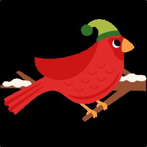 Red Christmas Bird scrapbook clip art christmas cut outs for cricut cute svg cut files free svgs cute svg cuts