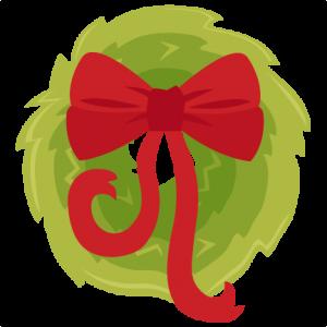 Christmas Wreath scrapbook clip art christmas cut outs for cricut cute svg cut files free svgs cute svg cuts