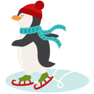 Ice Skating Penguin SVG scrapbook shape winter svg cut file snowflake svg cut files for cricut cute svgs free