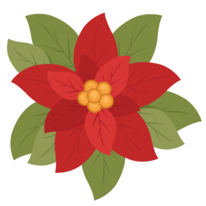 Christmas Poinsettia flower scrapbook clip art christmas cut outs for cricut cute svg cut files free svgs cute svg cuts