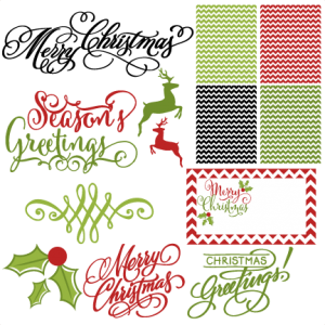 Holiday Card Set svg scrapbook clip art christmas cut outs for cricut cute svg cut files free svgs cute svg cuts