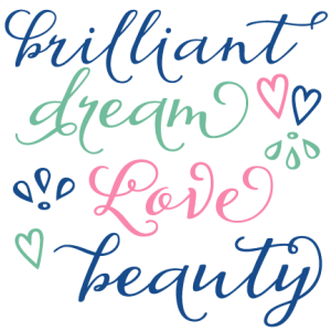 Love Words Set SVG scrapbook title flowers SVG cutting file for scrapbooking free svg cuts free svgs flower svg files