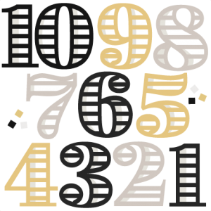 New Year Numbers svg cutting files for scrapbooking cute clip art balloon clipare free svg cut files