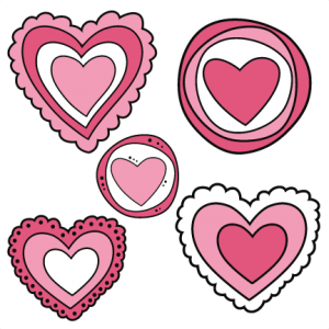 Doodle Hearts SVG cutting files doodle cut files for scrapbooking clip art clipart doodle cut files for cricut free svg cuts