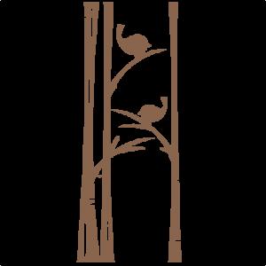 Winter Birds on Trees SVG scrapbook cuts winter svg cut file snowflake svg cut files for cricut cute svgs free