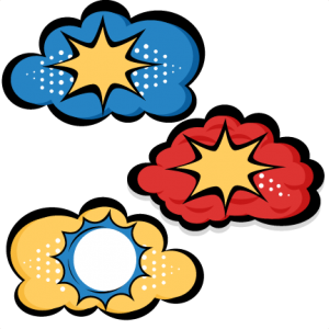 Superhero Clouds SVG cutting files for scrapbooking superhero clipart clip art cute free svg cuts